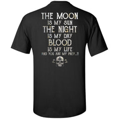Viking, Norse, Gym t-shirt & apparel, The Moon, BackApparel[Heathen By Nature authentic Viking products]Tall Ultra Cotton T-ShirtBlackXLT