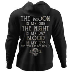 Viking, Norse, Gym t-shirt & apparel, The Moon, BackApparel[Heathen By Nature authentic Viking products]Unisex Pullover HoodieBlackS