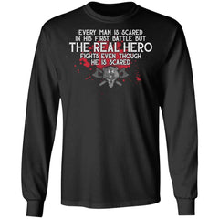 Viking, Norse, Gym t-shirt & apparel, The Real Hero, FrontApparel[Heathen By Nature authentic Viking products]Long-Sleeve Ultra Cotton T-ShirtBlackS
