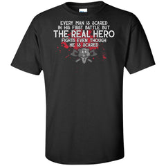 Viking, Norse, Gym t-shirt & apparel, The Real Hero, FrontApparel[Heathen By Nature authentic Viking products]Tall Ultra Cotton T-ShirtBlackXLT