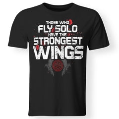 Viking, Norse, Gym t-shirt & apparel, The Strongest Wings, FrontApparel[Heathen By Nature authentic Viking products]Premium Men T-ShirtBlackS