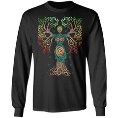Viking, Norse, Gym t-shirt & apparel, The Tree Of Life, FrontApparel[Heathen By Nature authentic Viking products]Long-Sleeve Ultra Cotton T-ShirtBlackS