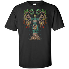 Viking, Norse, Gym t-shirt & apparel, The Tree Of Life, FrontApparel[Heathen By Nature authentic Viking products]Tall Ultra Cotton T-ShirtBlackXLT