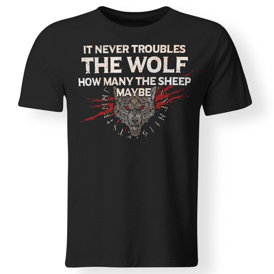 Viking, Norse, Gym t-shirt & apparel, The Wolf, FrontApparel[Heathen By Nature authentic Viking products]Gildan Premium Men T-ShirtBlackS