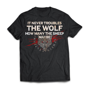 Viking, Norse, Gym t-shirt & apparel, The Wolf, FrontApparel[Heathen By Nature authentic Viking products]Next Level Premium Short Sleeve T-ShirtBlackX-Small