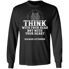 Viking, Norse, Gym t-shirt & apparel, Think, FrontApparel[Heathen By Nature authentic Viking products]Long-Sleeve Ultra Cotton T-ShirtBlackS