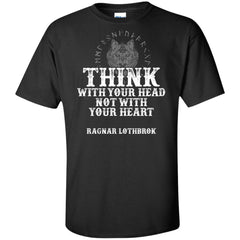 Viking, Norse, Gym t-shirt & apparel, Think, FrontApparel[Heathen By Nature authentic Viking products]Tall Ultra Cotton T-ShirtBlackXLT