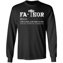 Viking, Norse, Gym t-shirt & apparel, Thor, Fathor, FrontApparel[Heathen By Nature authentic Viking products]Long-Sleeve Ultra Cotton T-ShirtBlackS