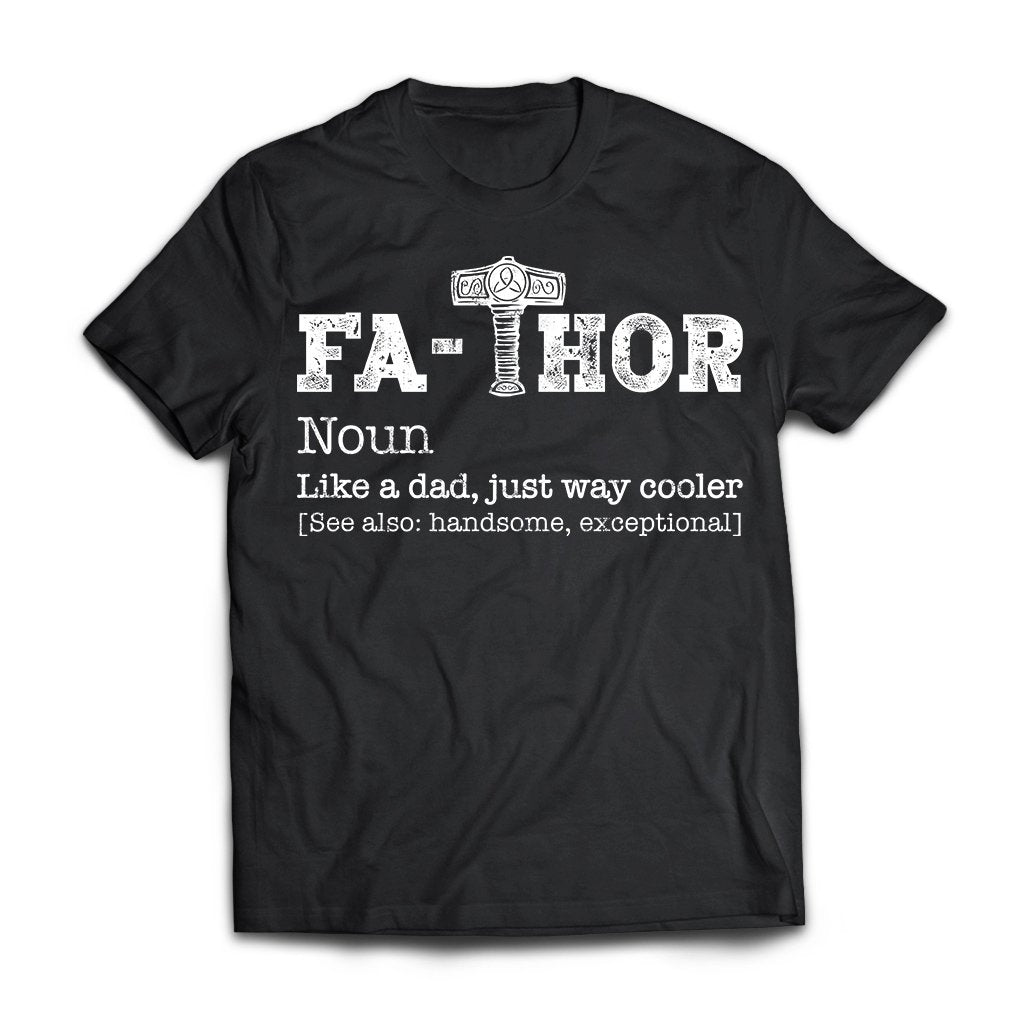 Viking, Norse, Gym t-shirt & apparel, Thor, Fathor, FrontApparel[Heathen By Nature authentic Viking products]Next Level Premium Short Sleeve T-ShirtBlackX-Small