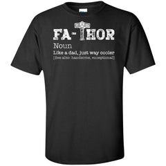 Viking, Norse, Gym t-shirt & apparel, Thor, Fathor, FrontApparel[Heathen By Nature authentic Viking products]Tall Ultra Cotton T-ShirtBlackXLT