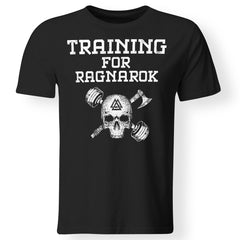 Viking, Norse, Gym t-shirt & apparel, Training for Ragnarok, frontApparel[Heathen By Nature authentic Viking products]Premium Men T-ShirtBlackS