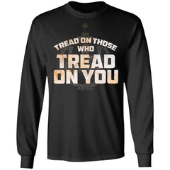 Viking, Norse, Gym t-shirt & apparel, Tread On Those Who Tread On You, FrontApparel[Heathen By Nature authentic Viking products]Long-Sleeve Ultra Cotton T-ShirtBlackS