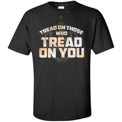 Viking, Norse, Gym t-shirt & apparel, Tread On Those Who Tread On You, FrontApparel[Heathen By Nature authentic Viking products]Tall Ultra Cotton T-ShirtBlackXLT