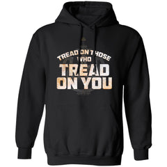 Viking, Norse, Gym t-shirt & apparel, Tread On Those Who Tread On You, FrontApparel[Heathen By Nature authentic Viking products]Unisex Pullover Hoodie 8 oz.BlackS