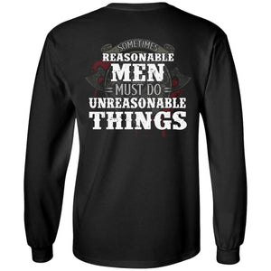 Viking, Norse, Gym t-shirt & apparel, Unreasonable things, BackApparel[Heathen By Nature authentic Viking products]Long-Sleeve Ultra Cotton T-ShirtBlackS