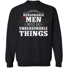 Viking, Norse, Gym t-shirt & apparel, Unreasonable things, FrontApparel[Heathen By Nature authentic Viking products]Unisex Crewneck Pullover SweatshirtBlackS