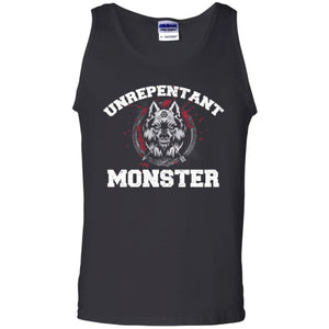 Viking, Norse, Gym t-shirt & apparel, Unrepentant Monster, FrontApparel[Heathen By Nature authentic Viking products]Cotton Tank TopBlackS