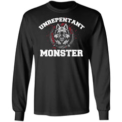 Viking, Norse, Gym t-shirt & apparel, Unrepentant Monster, FrontApparel[Heathen By Nature authentic Viking products]Long-Sleeve Ultra Cotton T-ShirtBlackS
