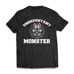 Viking, Norse, Gym t-shirt & apparel, Unrepentant Monster, FrontApparel[Heathen By Nature authentic Viking products]Next Level Premium Short Sleeve T-ShirtBlackX-Small