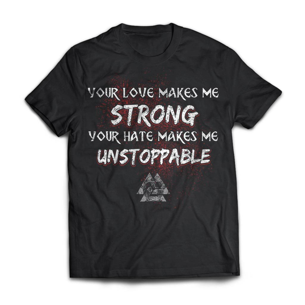 Viking, Norse, Gym t-shirt & apparel, Unstoppable, FrontApparel[Heathen By Nature authentic Viking products]Next Level Premium Short Sleeve T-ShirtBlackX-Small