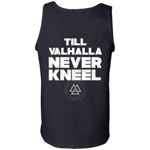Viking, Norse, Gym t-shirt & apparel, Valhalla, BackApparel[Heathen By Nature authentic Viking products]Cotton Tank TopBlackS