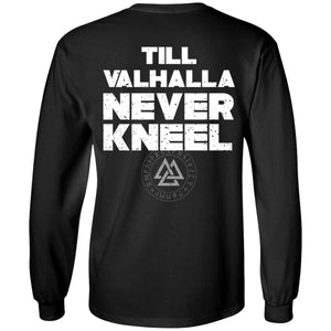 Viking, Norse, Gym t-shirt & apparel, Valhalla, BackApparel[Heathen By Nature authentic Viking products]Long-Sleeve Ultra Cotton T-ShirtBlackS
