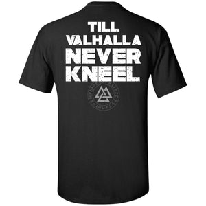 Viking, Norse, Gym t-shirt & apparel, Valhalla, BackApparel[Heathen By Nature authentic Viking products]Tall Ultra Cotton T-ShirtBlackXLT