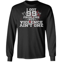 Viking, Norse, Gym t-shirt & apparel, Violence ain't one, FrontApparel[Heathen By Nature authentic Viking products]Long-Sleeve Ultra Cotton T-ShirtBlackS
