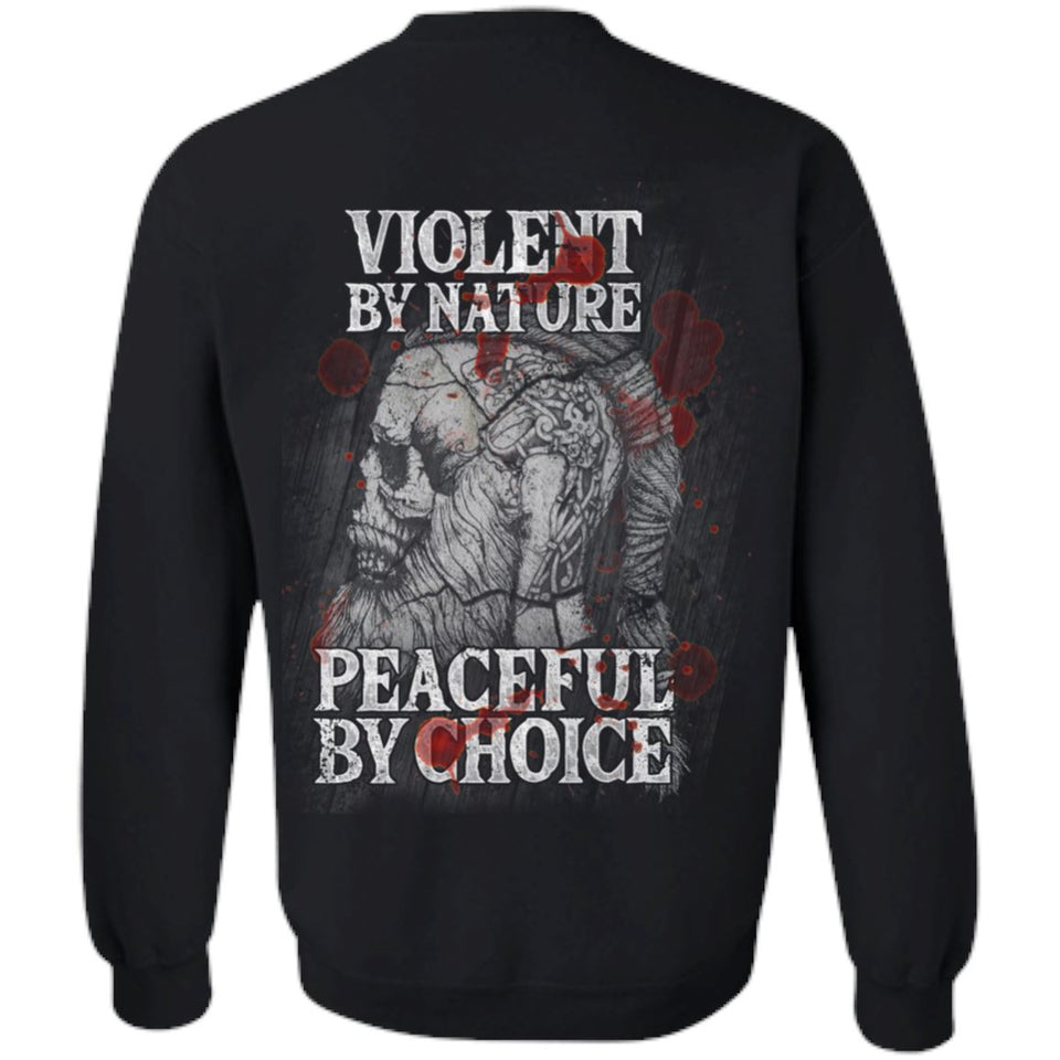 Viking, Norse, Gym t-shirt & apparel, Violent By Nature, Double sidedApparel[Heathen By Nature authentic Viking products]