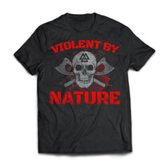 Viking, Norse, Gym t-shirt & apparel, Violent By Nature, FrontApparel[Heathen By Nature authentic Viking products]Next Level Premium Short Sleeve T-ShirtBlackX-Small