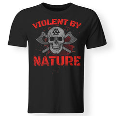 Viking, Norse, Gym t-shirt & apparel, Violent By Nature, FrontApparel[Heathen By Nature authentic Viking products]Premium Men T-ShirtBlackS