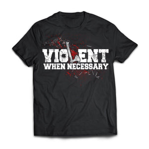 Viking, Norse, Gym t-shirt & apparel, Violent, necessary, frontApparel[Heathen By Nature authentic Viking products]Next Level Premium Short Sleeve T-ShirtBlackX-Small