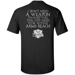 Viking, Norse, Gym t-shirt & apparel, weapon, arms reach, backApparel[Heathen By Nature authentic Viking products]Tall Ultra Cotton T-ShirtBlackXLT