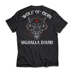 Viking, Norse, Gym t-shirt & apparel, Wolf Of Odin, BackApparel[Heathen By Nature authentic Viking products]Next Level Premium Short Sleeve T-ShirtBlackX-Small