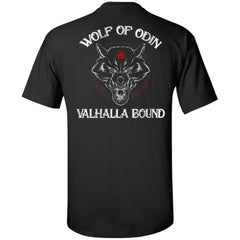 Viking, Norse, Gym t-shirt & apparel, Wolf Of Odin, BackApparel[Heathen By Nature authentic Viking products]Tall Ultra Cotton T-ShirtBlackXLT