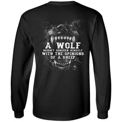 Viking, Norse, Gym t-shirt & apparel, Wolf, sheep, backApparel[Heathen By Nature authentic Viking products]Long-Sleeve Ultra Cotton T-ShirtBlackS