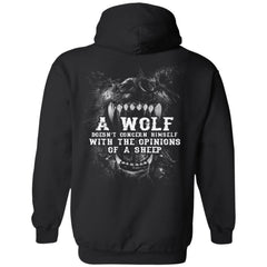 Viking, Norse, Gym t-shirt & apparel, Wolf, sheep, backApparel[Heathen By Nature authentic Viking products]Unisex Pullover HoodieBlackS