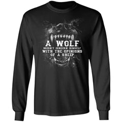 Viking, Norse, Gym t-shirt & apparel, Wolf, sheep, frontApparel[Heathen By Nature authentic Viking products]Long-Sleeve Ultra Cotton T-ShirtBlackS