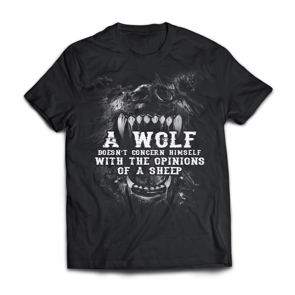 Viking, Norse, Gym t-shirt & apparel, Wolf, sheep, frontApparel[Heathen By Nature authentic Viking products]Next Level Premium Short Sleeve T-ShirtBlackX-Small