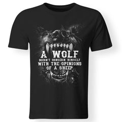 Viking, Norse, Gym t-shirt & apparel, Wolf, sheep, frontApparel[Heathen By Nature authentic Viking products]Premium Men T-ShirtBlackS