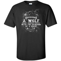 Viking, Norse, Gym t-shirt & apparel, Wolf, sheep, frontApparel[Heathen By Nature authentic Viking products]Tall Ultra Cotton T-ShirtBlackXLT