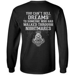 Viking, Norse, Gym t-shirt & apparel, You can't sell dreams, BackApparel[Heathen By Nature authentic Viking products]Long-Sleeve Ultra Cotton T-ShirtBlackS