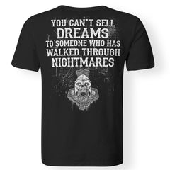 Viking, Norse, Gym t-shirt & apparel, You can't sell dreams, BackApparel[Heathen By Nature authentic Viking products]Premium Men T-ShirtBlackS