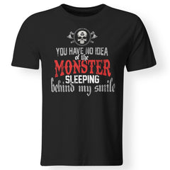 Viking, Norse, Gym t-shirt & apparel, You have no idea of the monster, frontApparel[Heathen By Nature authentic Viking products]Premium Men T-ShirtBlackS
