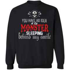 Viking, Norse, Gym t-shirt & apparel, You have no idea of the monster, frontApparel[Heathen By Nature authentic Viking products]Unisex Crewneck Pullover SweatshirtBlackS