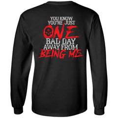 Viking, Norse, Gym t-shirt & apparel, You know you're just one bad day, FrontApparel[Heathen By Nature authentic Viking products]Long-Sleeve Ultra Cotton T-ShirtBlackS