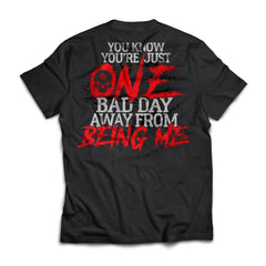 Viking, Norse, Gym t-shirt & apparel, You know you're just one bad day, FrontApparel[Heathen By Nature authentic Viking products]Next Level Premium Short Sleeve T-ShirtBlackX-Small