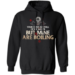 Viking, Norse, Gym t-shirt & apparel, Your Veins, FrontApparel[Heathen By Nature authentic Viking products]Unisex Pullover HoodieBlackS