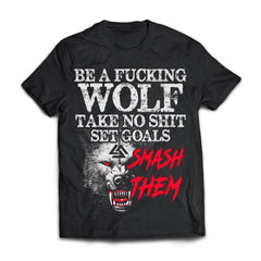 Viking T-shirt, Be a fucking wolfApparel[Heathen By Nature authentic Viking products]Next Level Premium Short Sleeve T-ShirtBlackX-Small