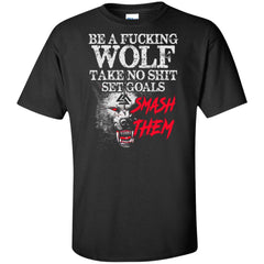 Viking T-shirt, Be a fucking wolfApparel[Heathen By Nature authentic Viking products]Tall Ultra Cotton T-ShirtBlackXLT